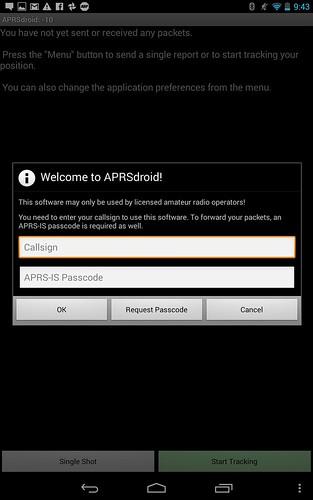 APRSdroid Start
