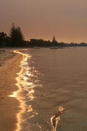 ocean sunset orange water purple siestapark