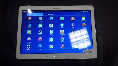 Samsung Galaxy Note 10.1 2014 Edition ด้านหน้า