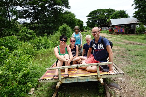At the end of the line… Bamboo Train in Battambang, Cambodia