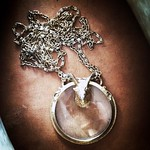 vintage rams head magnifier necklace from tag sale in Roslyn