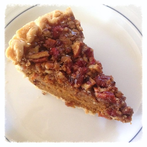 Pumpkin pecan cranberry pie