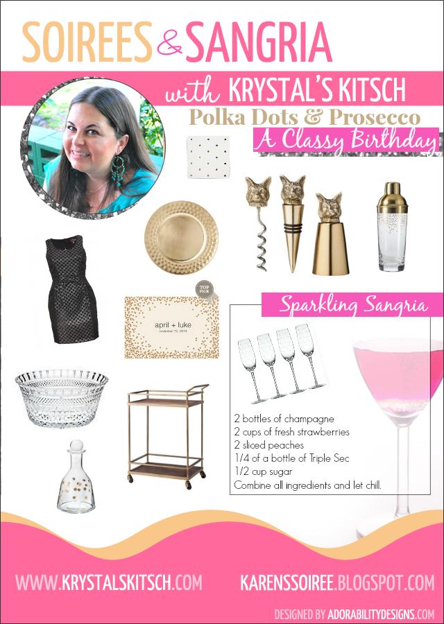 Polka Dots Champagne Birthday Party