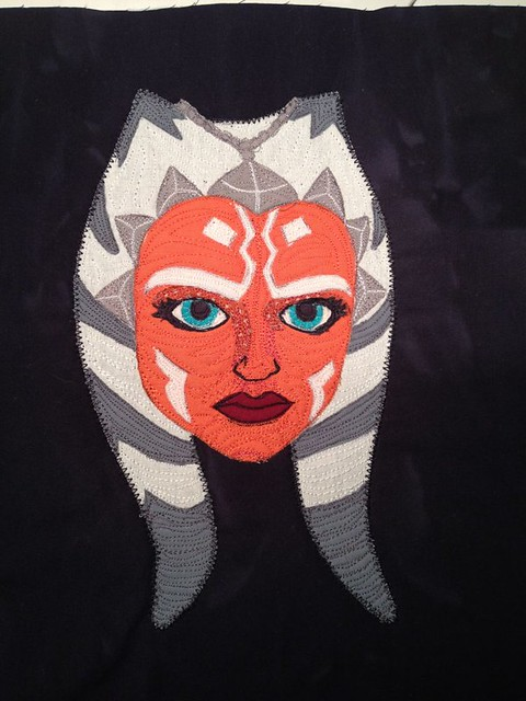 Ahsoka Tano reading pillow - applique