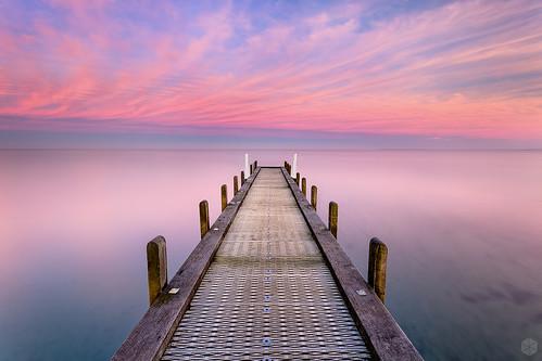 pink sunrise pier jetty australia melbourne victoria flame serenity vic mornington peninsula frankston 1740l portphillipbay boatramp olivershill 5d3 5dmarkiii