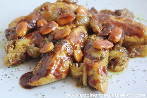 Pollo almendrado con miel www.cocinandoentreolivos (16)