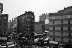 Snow in Chinatown ~ From the Manhattan Bridge