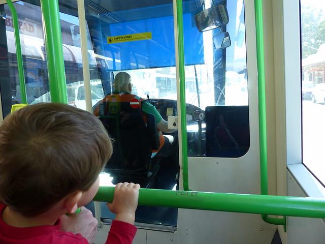 Eskil on tram 109