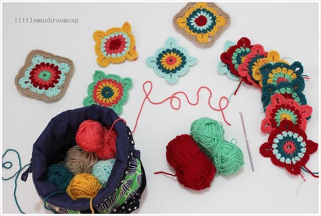 Crochet Granny squares blanket _ 3