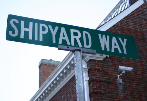 Shipyard Way sign