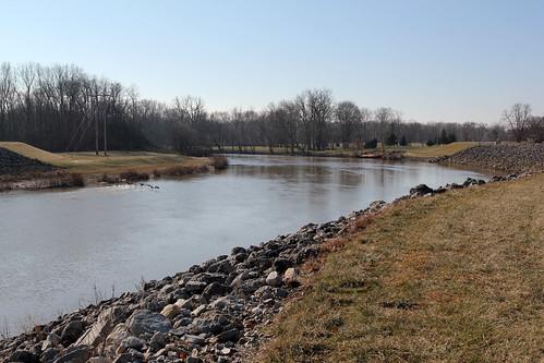 park county trees ohio water river scenic fremont embankment sandusky