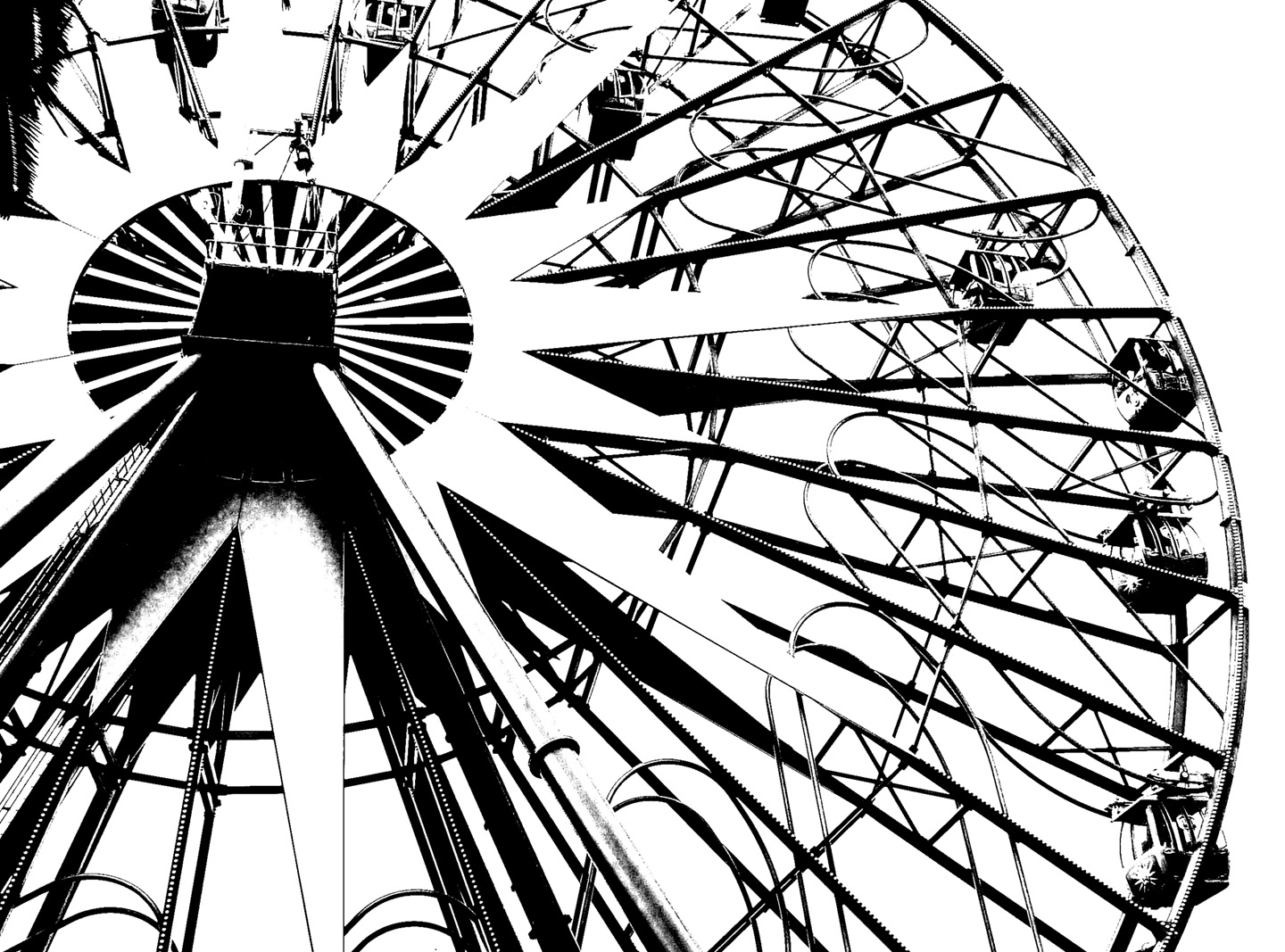 Ferris Wheel Coloring Pages free image | 1067x1440