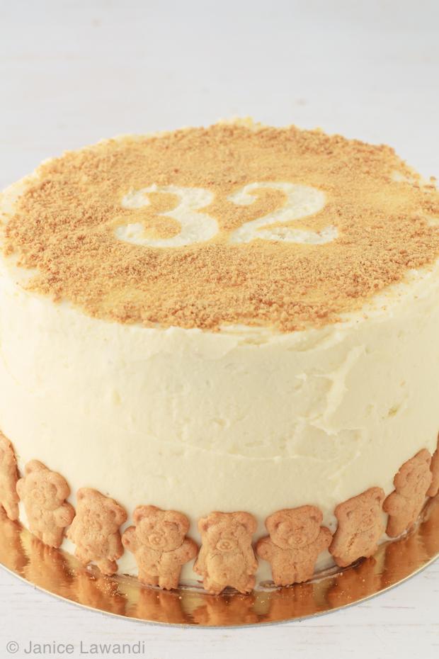 Birthday cake: spice cake with white chocolate cream cheese frosting ...