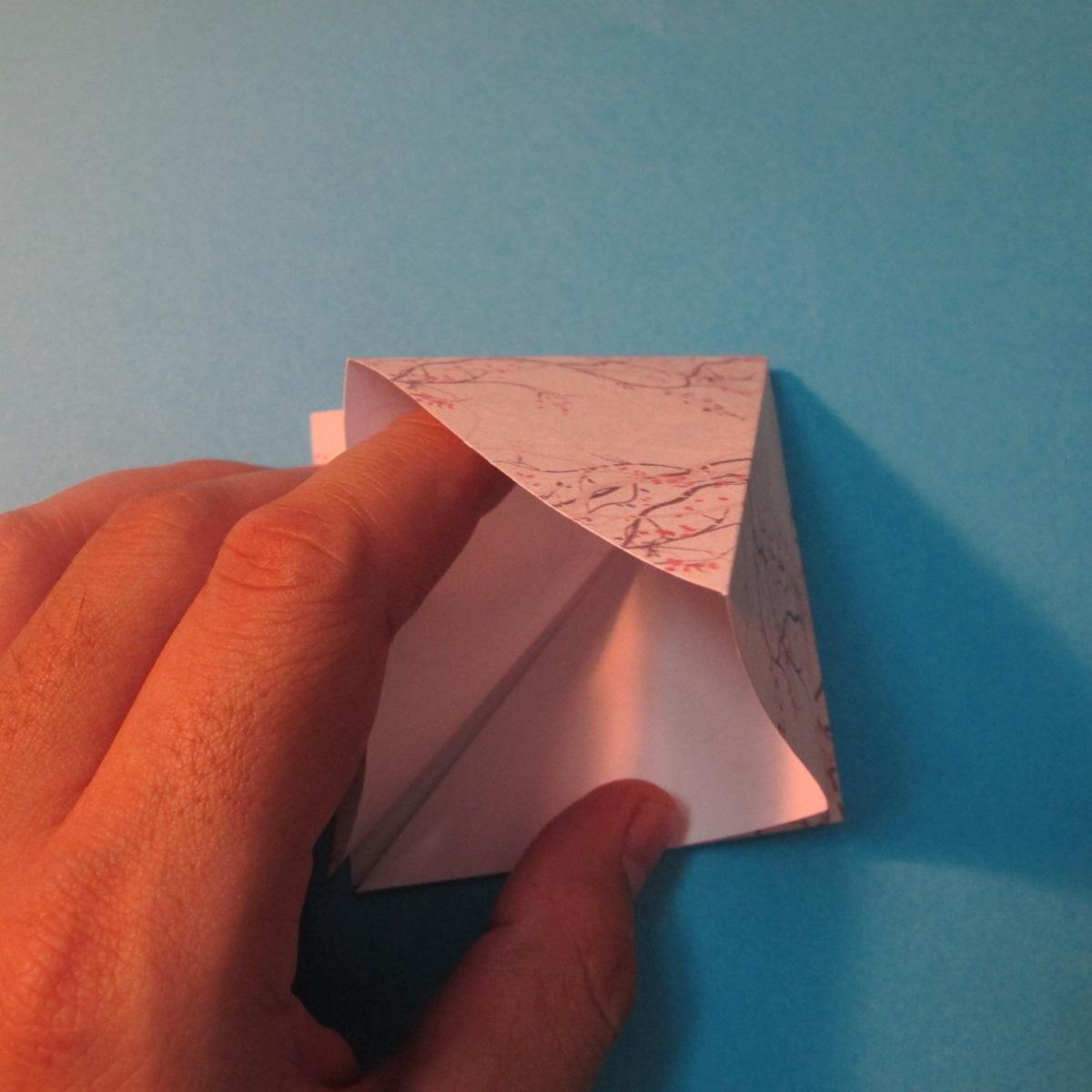 วิธีการพับกระดาษเป็นดาวสี่แฉก 007