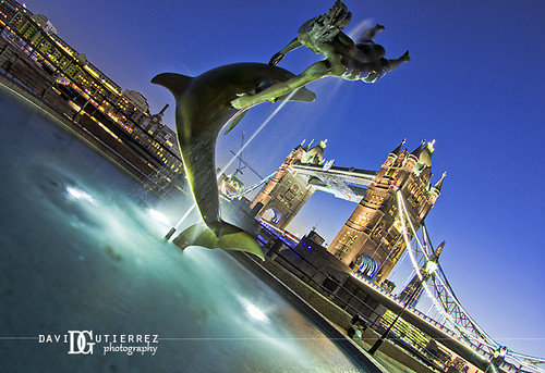 The Girl with a Dolphin at London Tower Bridge by david gutierrez [ www.davidgutierrez.co.uk ]