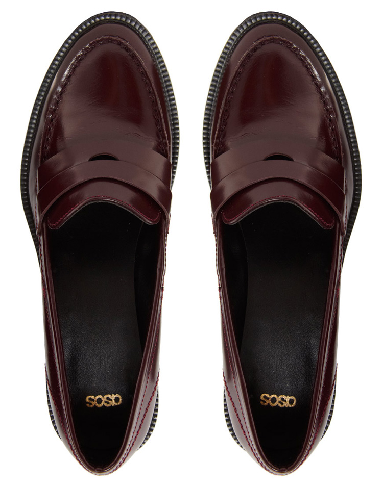 ASOS MYSTIFY Leather Loafers