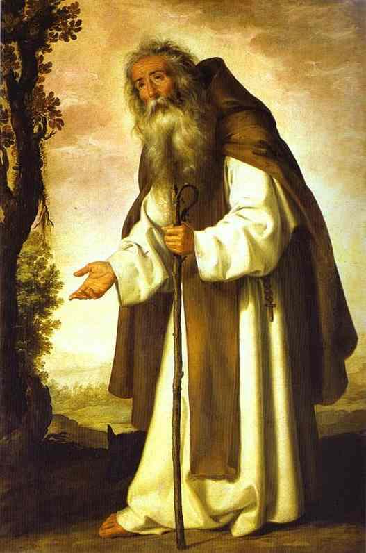 5. San Antonio Abad. Obra de Francisco Zurbarán (1598-1664)