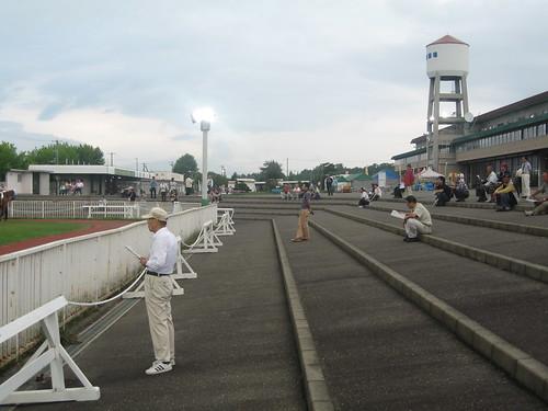 旭川競馬場のパドックの様子