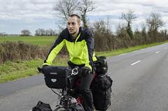 Pablo riding through France