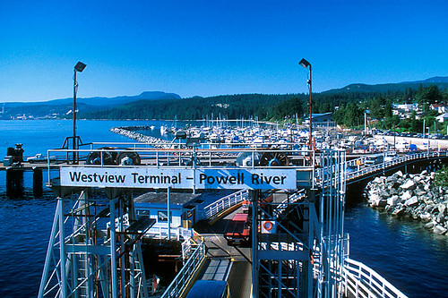 Westview Ferry Terminal, Powell River, Malaspina Peninsula, Sunshine Coast, British Columbia, Canada