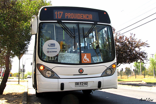 Transantiago Bus - 117 | Inversiones Alsacia | Marcopolo Gran Viale - Scania (Biodiésel) / DBFZ92