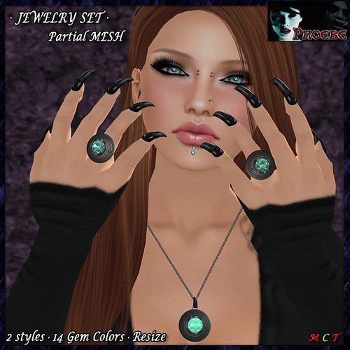 [OFFER!] *P* Nadia Jewelry Set ~Platinum~ (P-MESH)