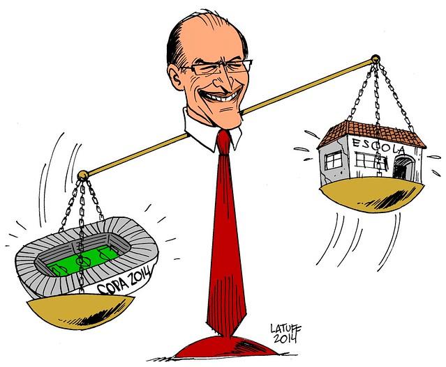 """""""O que vale mais para Geraldo Alckmin?"""", por Carlos Latuff"""