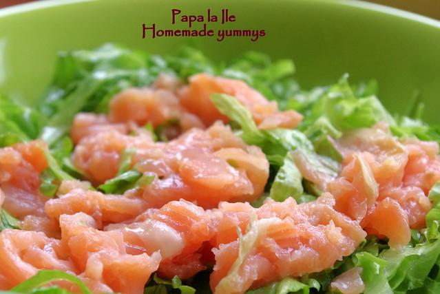 Salata cu somon afumat (3)
