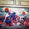 Female riders of the #apocalypse #graffiti #StreetArt #Williamsburg #Brooklyn #NYC #horses