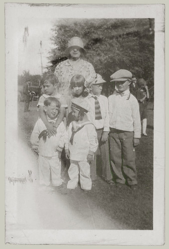 Woman and 6 children