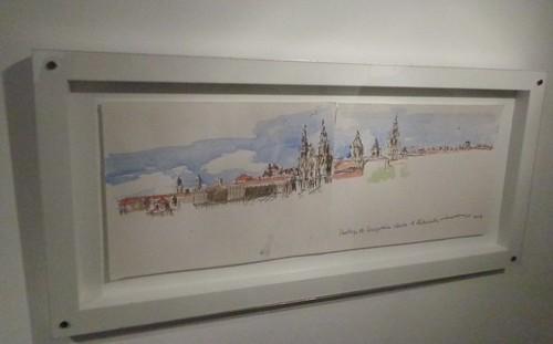 Santiago de Compostela. Debuxo de Pablo Tomé