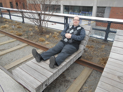 resting on the high line