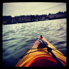 #kayak #paddling on a calm #Bellingham #bay. #pacnw #pacificnorthwest