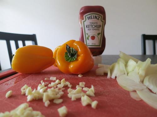 Japanese ketchup spaghetti
