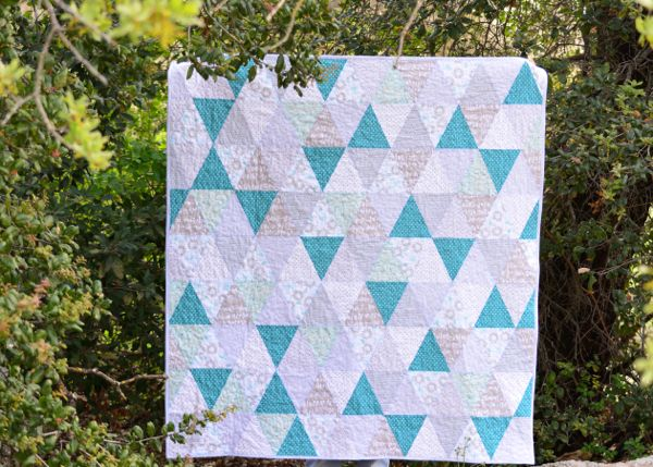 Blue Triangle Quilt