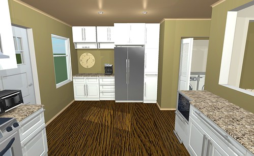 Kitchen concept fridge.pantry