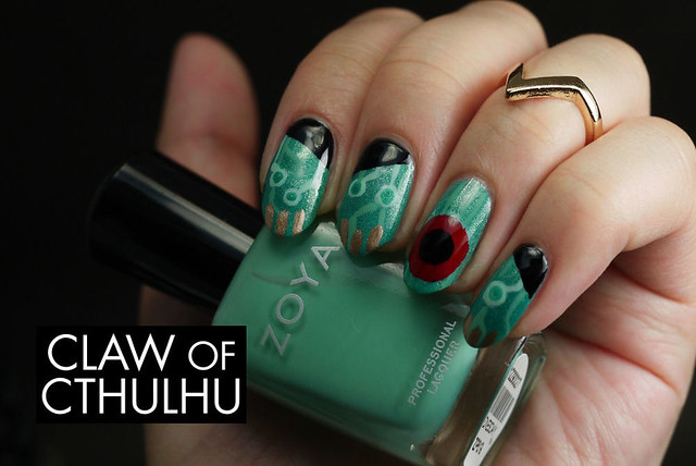 Supergiant Games' Transistor Video Game Inspired Nail Art