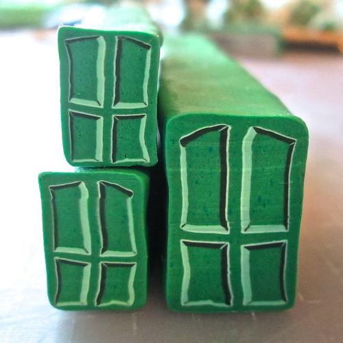 Rustic Green Door Cane