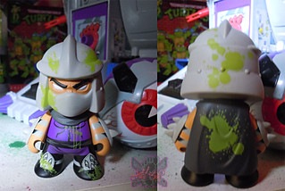 "Kidrobot :: ""TEENAGE MUTANT NINJA TURTLES"" - 'OOZE ACTION' GLOW IN THE DARK SHREDDER iv (( 2014 ))"