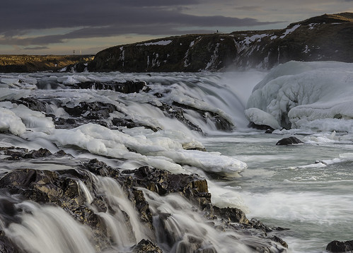 longexposure mountain ice water sunrise river landscape waterfall iceland rocks glacial urridafoss