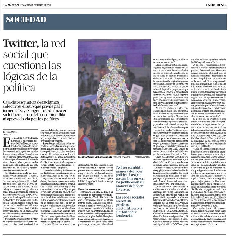 Imagen: Nota en el diario La Nación