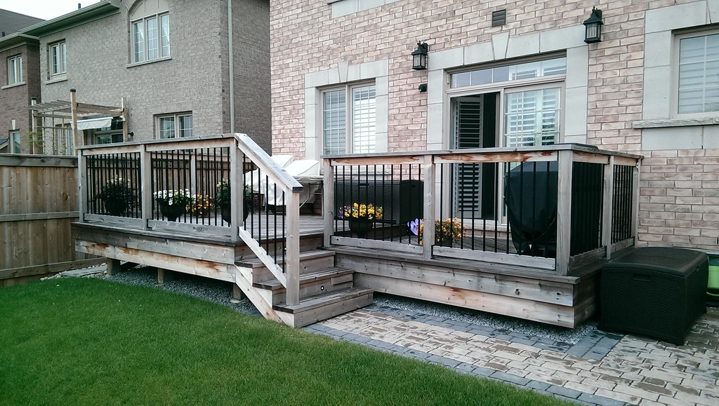 Chronology of My Free-Standing Cedar Deck Build