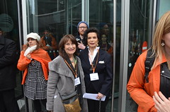 #march4women Bianca Jagger. and Helena kennedy