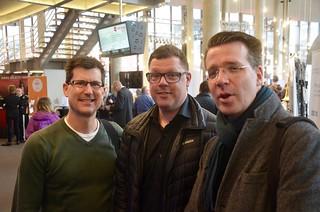 Tre emigranter: Stefan Cooper, Patrik Randefalk och Andreas Hansson