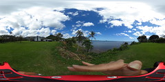 A view from the Waikane Congregational Churchgrounds  - a 360° Equirectangular VR