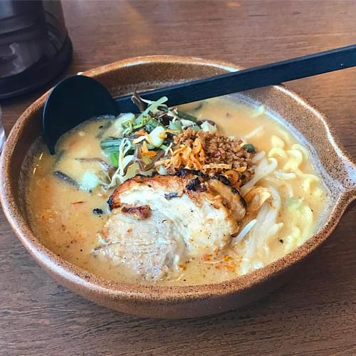 今日のお昼は、信州味噌らーめん♪  ご飯はなしにしました〜 #岡地麺子倶楽部