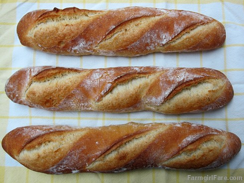 Four Hour Parisian Daily Baguettes, an easy French bread recipe (2) - FarmgirlFare.com