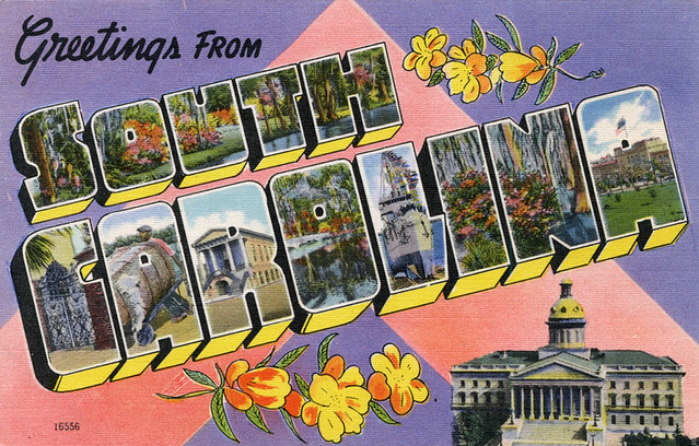 letter a forms greetings from south carolina large letter postcard 16556 | 8877347706 7c88b62517 z