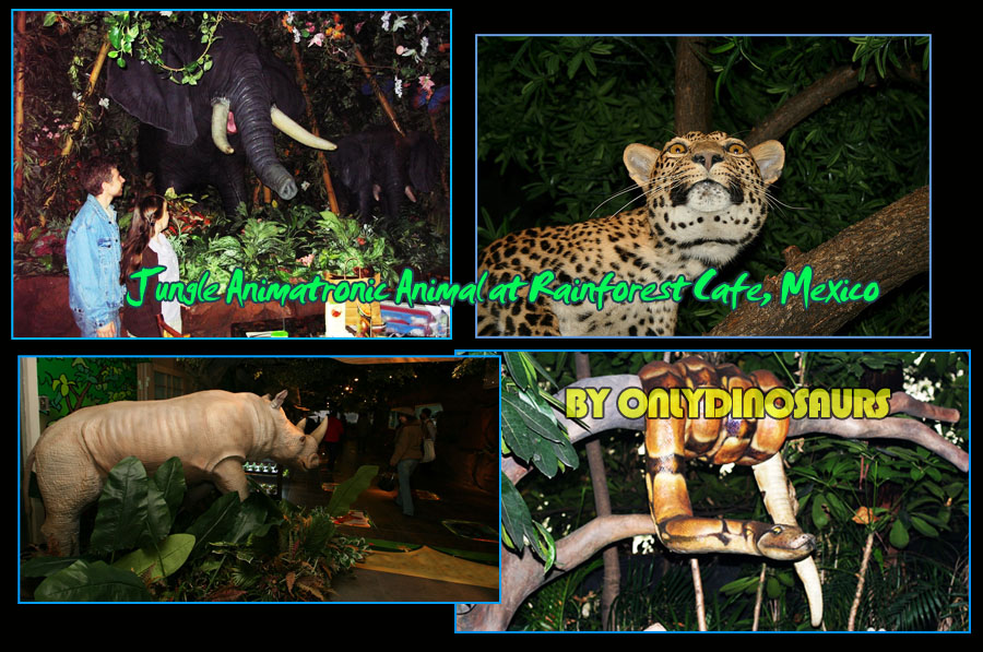 Jungle Animatronic Animal in rainforestc afe