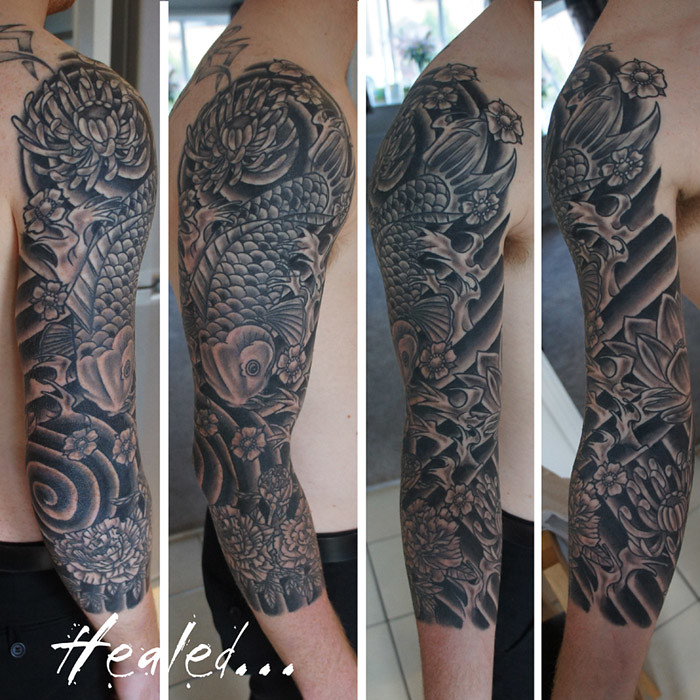 Japanese Koi Three Quarter Sleeve Tattoo Chris Hatch Tatto Flickr